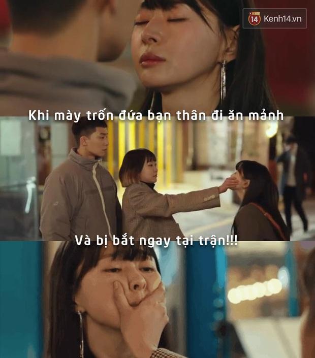 Nhiều lần lầm lỡ lại chỉ mong có một điên nữ bịt mồm ngăn lại như ngăn nụ hôn từ bạn thân cũ của Park Seo Joon trong Tầng lớp Itaewon - Ảnh 7.