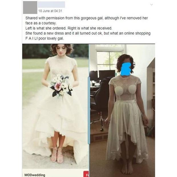 Vẫn là câu chuyện mua hàng online và những tình huống dở khóc dở cười: Cô dâu tự tin đặt mua váy cưới trên mạng để rồi khóc thét khi nhận hàng - Ảnh 1.
