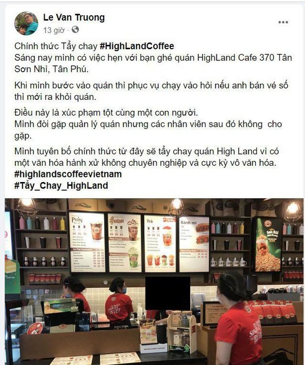 Highlands Coffee công khai xin lỗi khách hàng sau khi bị tố phân biệt đối xử với người khuyết tật - Ảnh 1.