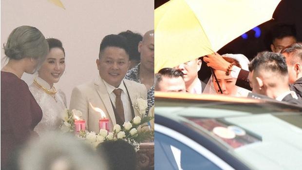 Tóc Tiên và Hoàng Touliver chính thức lộ diện trong đám cưới bí mật, che ô kỹ càng tương tự Hà Tăng, Bảo Thy - Ảnh 5.