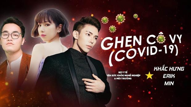 Min - Erik - Khắc Hưng bất ngờ tái hợp, tung phiên bản Ghen mới toanh để tuyên truyền đẩy lùi dịch Corona! - Ảnh 2.