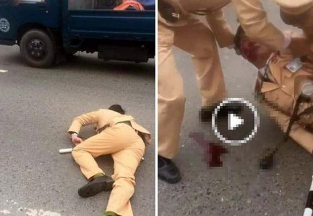 Hà Nội: Đôi nam nữ đi xe máy vượt đèn đỏ, tông gục Trung úy CSGT trên Quốc lộ 32 - Ảnh 1.