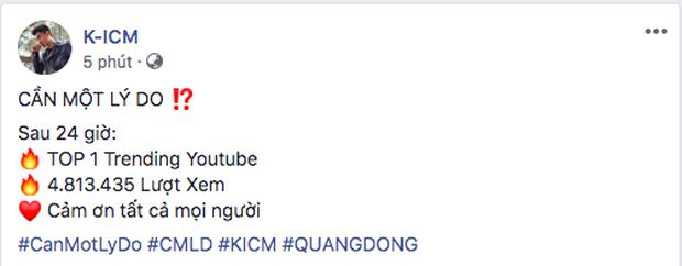 Thành tích 24 giờ của K-ICM kết hợp nhân tố mới vẫn chưa vượt qua lượt xem 2 bản hit hợp tác cùng Jack - Ảnh 4.