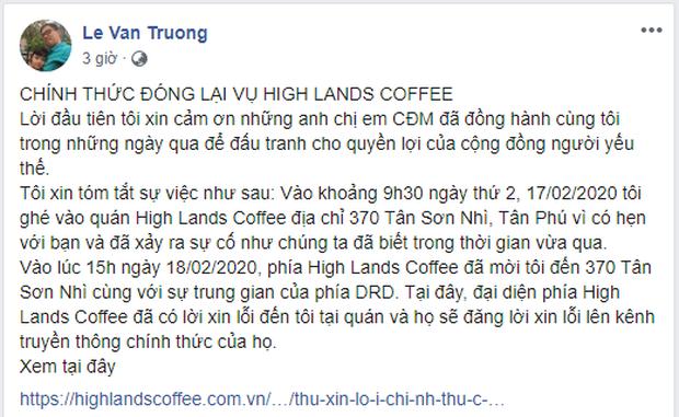 Highlands Coffee công khai xin lỗi khách hàng sau khi bị tố phân biệt đối xử với người khuyết tật - Ảnh 3.