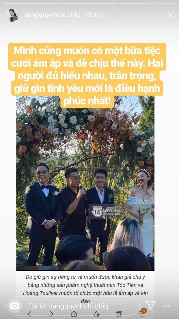 Vừa dọn ra ở riêng chưa được bao lâu, MC Quỳnh Chi lại mong sẽ có đám cưới ấm áp như Tóc Tiên - Touliver - Ảnh 1.