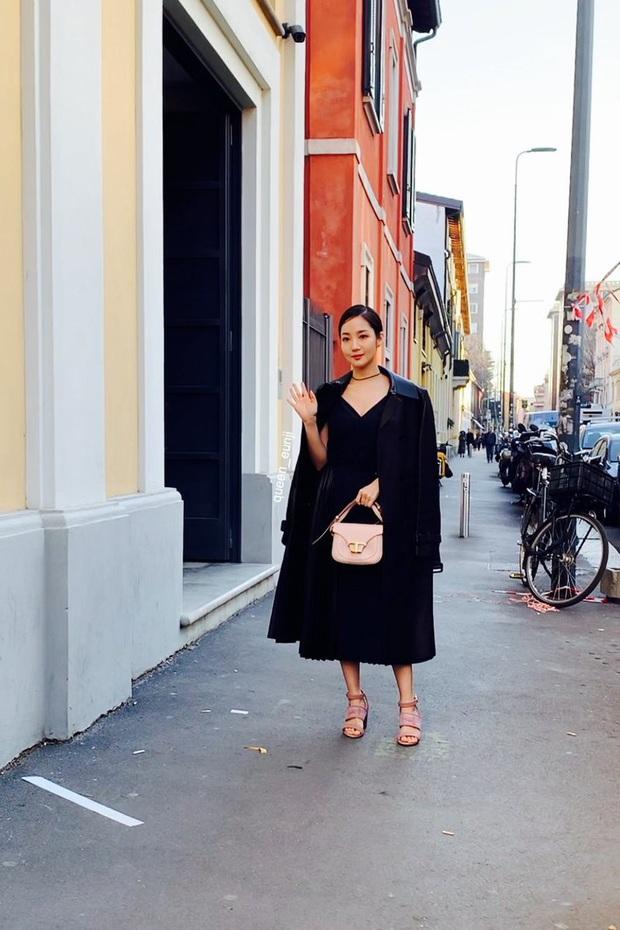 Milan Fashion Week: Park Min Young bỗng hóa một mẩu vì bộ cánh dìm dáng, Han Ye Seul diện váy sến nhưng vẫn đẹp - Ảnh 5.