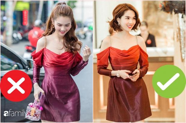 Nhìn sự cách biệt váy hiệu – váy chợ của Ngọc Trinh mới thấy photoshop có tác dụng thần kỳ thế nào - Ảnh 1.