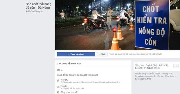 Lập trang Facebook báo chốt kiểm tra nồng độ cồn giúp ma men né CSGT! - Ảnh 2.