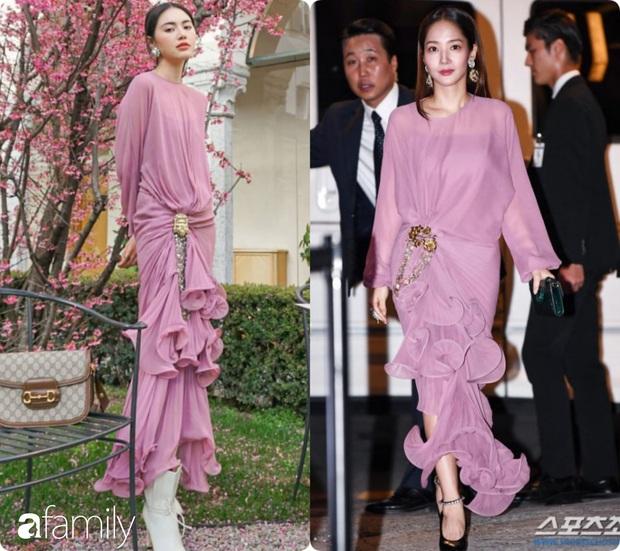Diện cùng một bộ đầm bánh bèo, Park Min Young tự dìm dáng không thương tiếc, ma nữ Thái Davika lại sang chảnh bất ngờ - Ảnh 9.