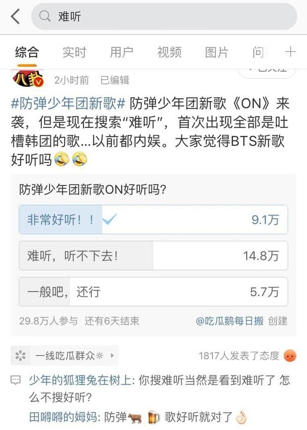 BTS lên hot search tại Weibo ngay sau màn comeback siêu đỉnh, nhưng kết quả cho ra phản ứng của netizen Trung lại là: Khó nghe - Ảnh 3.