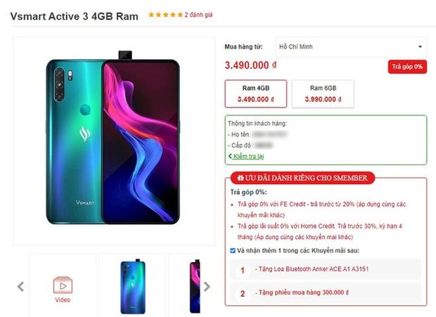 Mới ra mắt 1 tháng, Vsmart Active 3 đã có giá mới tốt hơn, smartphone Trung Quốc biết sống sao? - Ảnh 2.