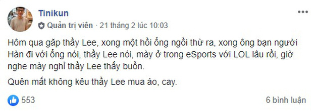 HLV Tinikun bất ngờ hé lộ kế hoạch dừng làm HLV Gam Esports, cộng đồng tiếc nuối một huyền thoại của VCS! - Ảnh 2.