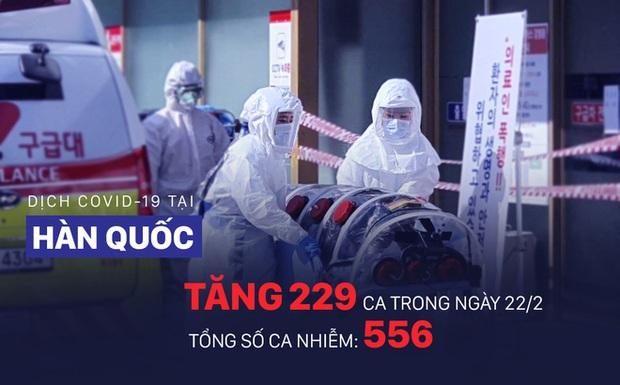 COVID-19: Diễn biến ngoài lãnh thổ TQ đáng lo ngại, Hàn Quốc tăng lên 556 ca nhiễm bệnh - Ảnh 1.