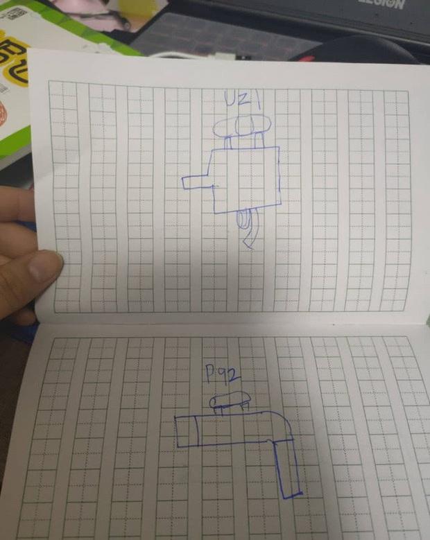 Game thủ 7 tuổi vẽ lại hệ thống vũ khí trong PUBG khiến cư dân mạng há mồm ngã ngửa - Ảnh 1.