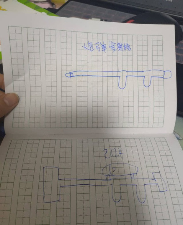 Game thủ 7 tuổi vẽ lại hệ thống vũ khí trong PUBG khiến cư dân mạng há mồm ngã ngửa - Ảnh 2.