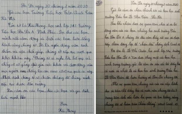 Xúc động bức thư học sinh vùng dịch Sơn Lôi cảm ơn các bạn nhỏ ở Hà Nội - Ảnh 1.