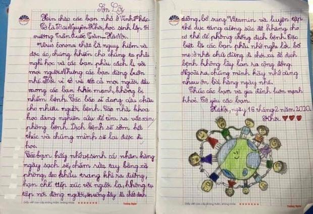 Xúc động bức thư học sinh vùng dịch Sơn Lôi cảm ơn các bạn nhỏ ở Hà Nội - Ảnh 3.