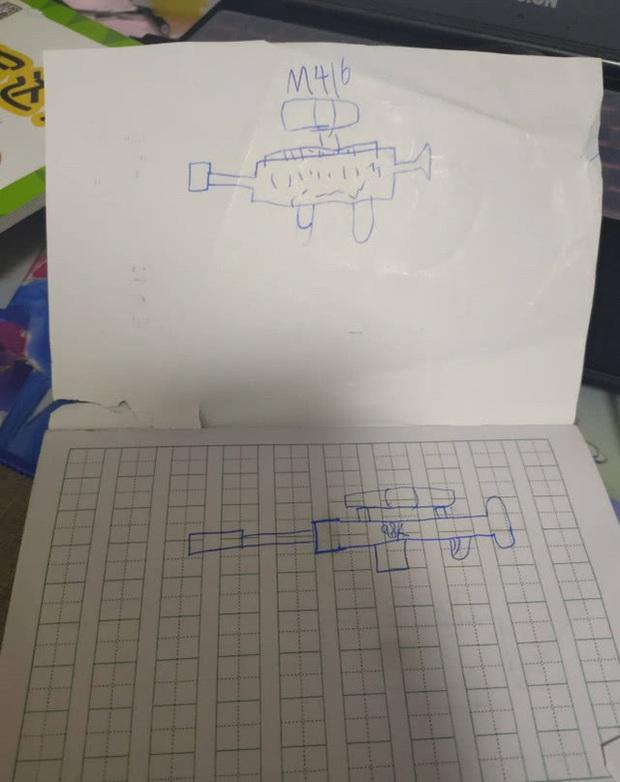 Game thủ 7 tuổi vẽ lại hệ thống vũ khí trong PUBG khiến cư dân mạng há mồm ngã ngửa - Ảnh 6.
