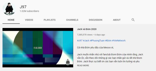 Jack (J97) đạt Nút Vàng YouTube sau 7 ngày, nhưng vẫn còn một Jack nữa khủng gấp bội với thành tích vỏn vẹn vài giờ - Ảnh 1.