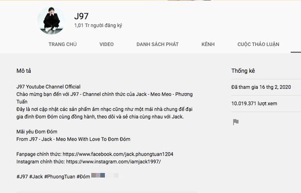 Jack đạt kỷ lục nút Vàng nhanh nhất Việt Nam chỉ trong 1 tuần, clip lộ 1/3 gương mặt cũng tóm hơn 7 triệu view..., sức mạnh fandom quả nhiên không đùa được! - Ảnh 7.