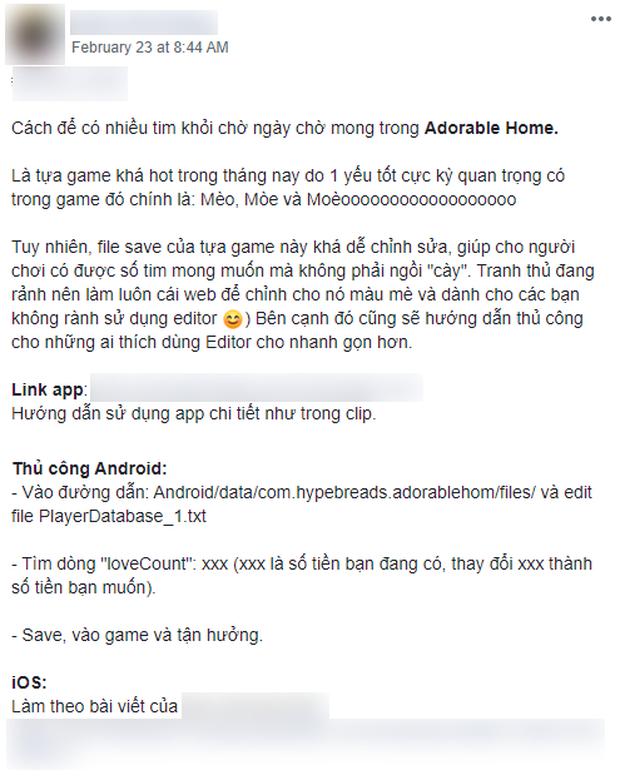 Hack Adorable Home lan truyền tràn lan trên Internet, vài phút có ngay 999.999 tim là chuyện nhỏ? - Ảnh 2.