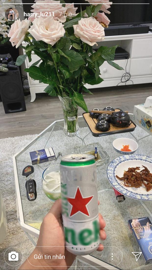 Dân mạng soi ra Harry Hưng uống bia giải sầu trong đêm Nhật Lê hẹn hò đi ăn cùng Quang Hải - Ảnh 2.