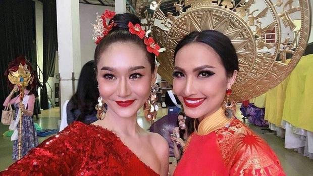 Hoài Sa hé lộ sương sương Quốc phục tại Miss International Queen 2020: Áo dài đỏ rực, quyền lực như nữ chiến binh - Ảnh 6.