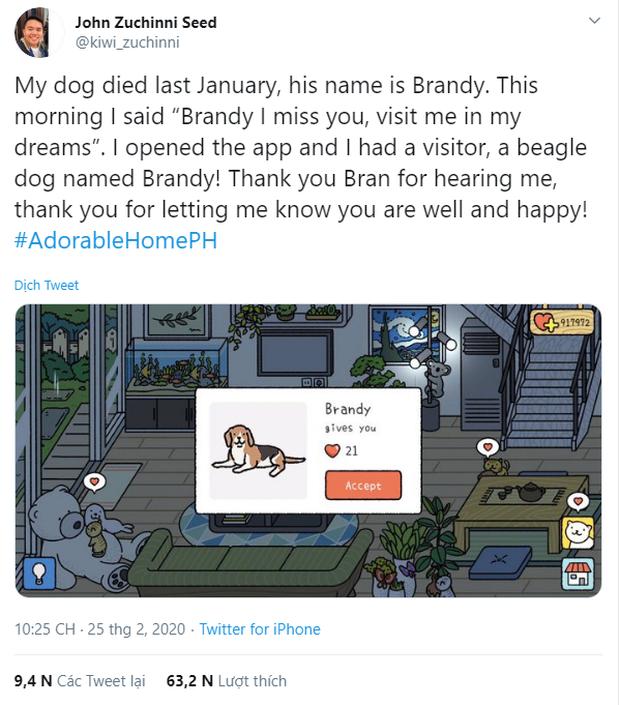 Món quà cắt hành vô giá từ Adorable Home: Chú chó đã mất ngoài đời bỗng hiện về trong game tìm đúng chủ cũ - Ảnh 1.