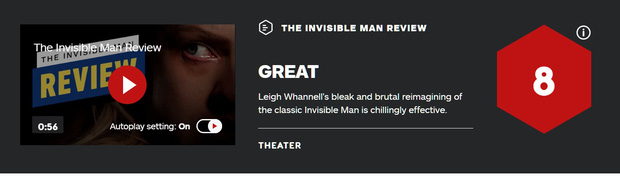 Giới mộ điệu quốc tế hết lời khen ngợi The Invisible Man: Phim kinh dị nổi da gà, nữ chính Elisabeth Moss hay xuất sắc - Ảnh 2.