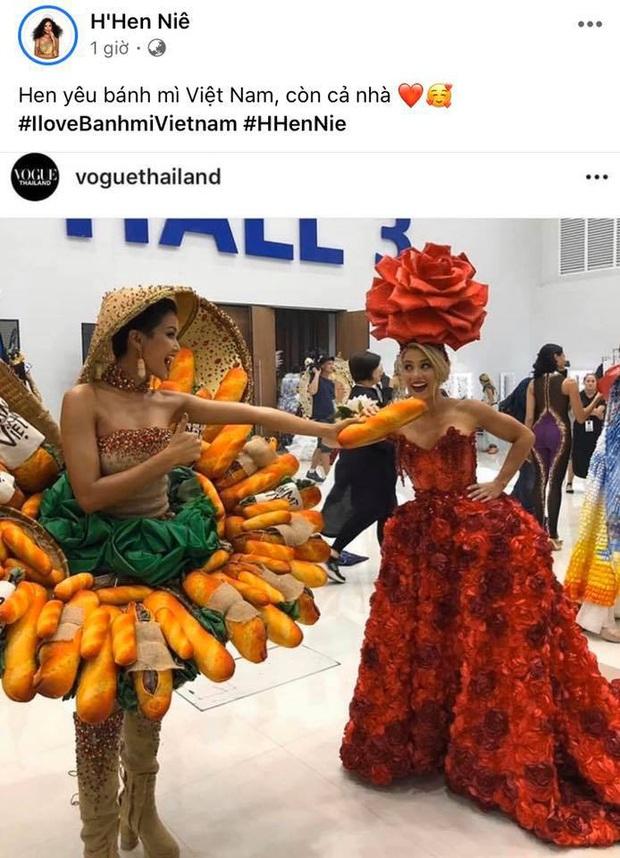 HHen Niê bất ngờ chia sẻ lại hình ảnh mặc trang phục bánh mì đã dự thi Miss Universe 2018, dân tình chỉ biết tán thưởng và đồng tình - Ảnh 1.