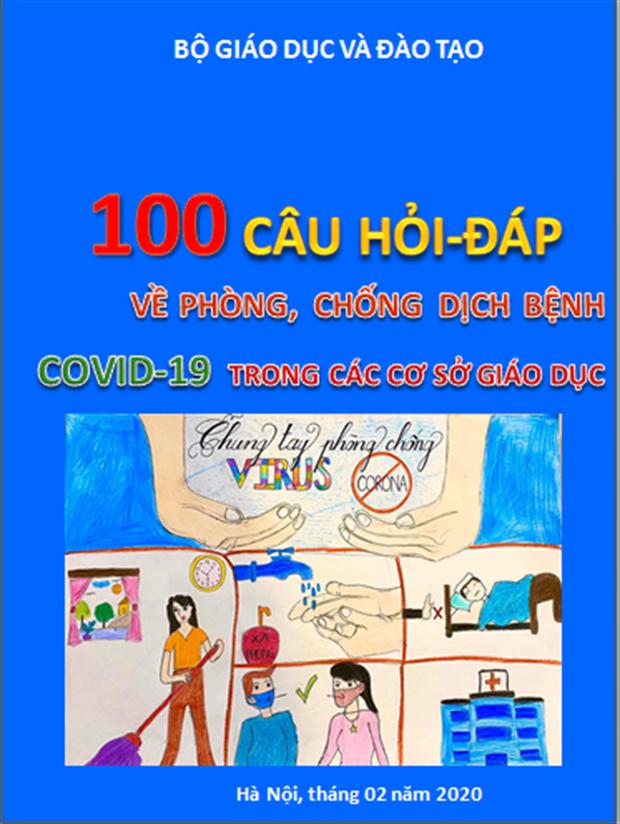 Bộ GD-ĐT công bố tài liệu 100 câu hỏi - đáp về phòng, chống dịch bệnh Covid-19 trong các cơ sở giáo dục - Ảnh 1.