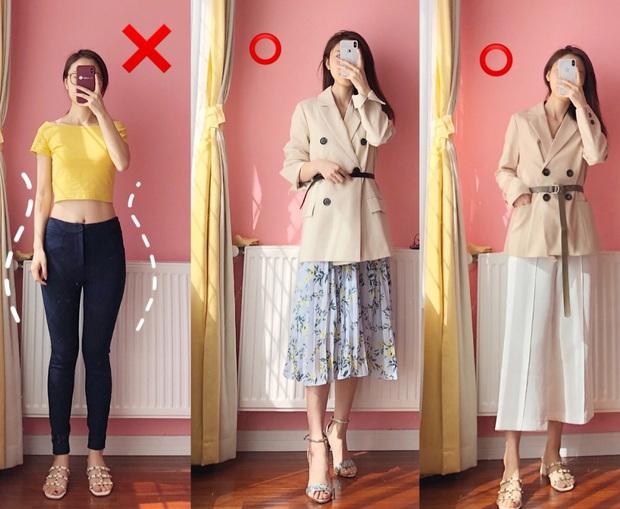 Nếu tự ti vì chân vòng kiềng, bạn đừng mặc quần skinny mà hãy kết thân với kiểu quần và chân váy này - Ảnh 1.