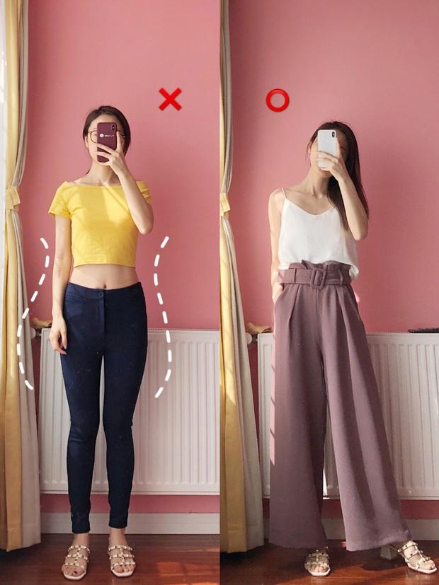 Nếu tự ti vì chân vòng kiềng, bạn đừng mặc quần skinny mà hãy kết thân với kiểu quần và chân váy này - Ảnh 2.