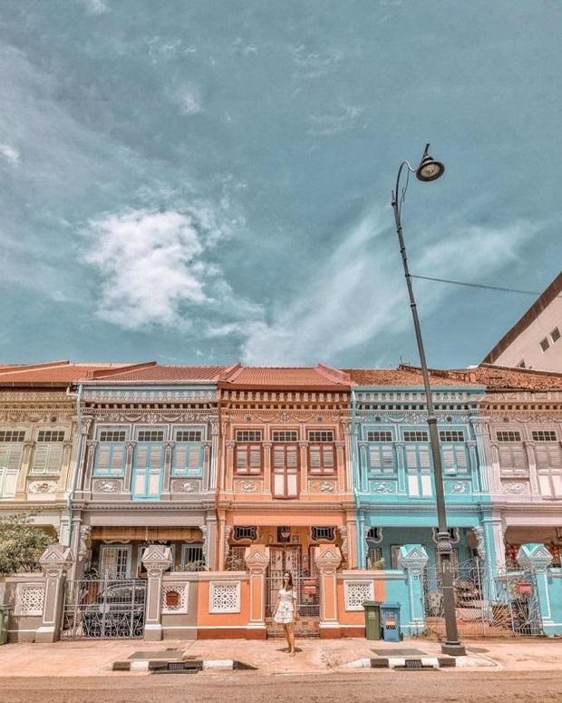 """Vừa phát hiện con phố 7 sắc cầu vồng cực hiếm người biết ở Singapore, hình sống ảo cứ tăng dần đều mỗi ngày vì background quá """"xịn"""" - Ảnh 3."""