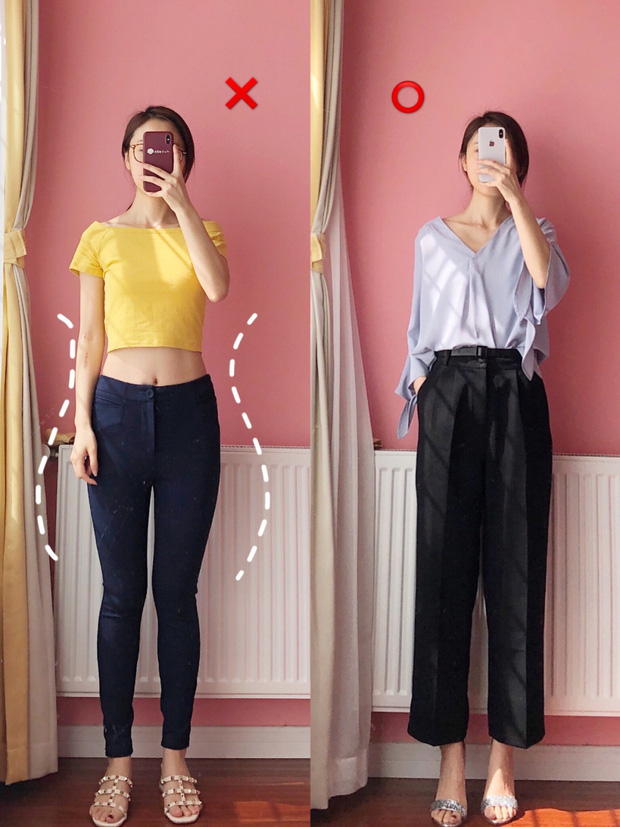 Nếu tự ti vì chân vòng kiềng, bạn đừng mặc quần skinny mà hãy kết thân với kiểu quần và chân váy này - Ảnh 3.