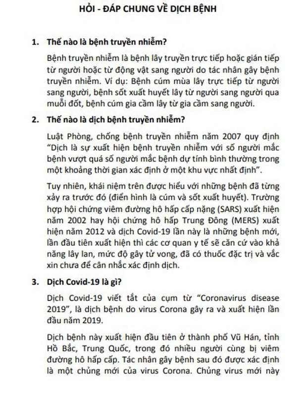 Bộ GD-ĐT công bố tài liệu 100 câu hỏi - đáp về phòng, chống dịch bệnh Covid-19 trong các cơ sở giáo dục - Ảnh 4.