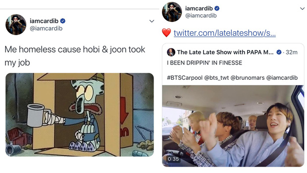 Cardi B thả tim, sợ bị... vô gia cư khi nghe BTS cover bản hit của mình - Ảnh 4.