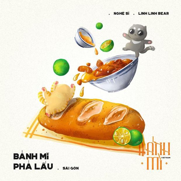 Bộ tranh tôn vinh các thể loại bánh mì Việt Nam đang được nhấn nút share kịch liệt, dân mạng không khỏi tự hào về đặc sản nước nhà - Ảnh 8.