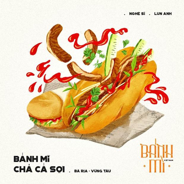 Bộ tranh tôn vinh các thể loại bánh mì Việt Nam đang được nhấn nút share kịch liệt, dân mạng không khỏi tự hào về đặc sản nước nhà - Ảnh 3.