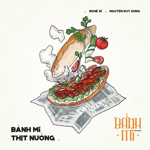Bộ tranh tôn vinh các thể loại bánh mì Việt Nam đang được nhấn nút share kịch liệt, dân mạng không khỏi tự hào về đặc sản nước nhà - Ảnh 4.