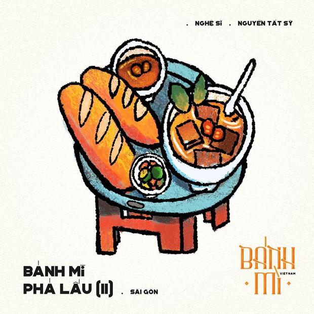 Bộ tranh tôn vinh các thể loại bánh mì Việt Nam đang được nhấn nút share kịch liệt, dân mạng không khỏi tự hào về đặc sản nước nhà - Ảnh 19.