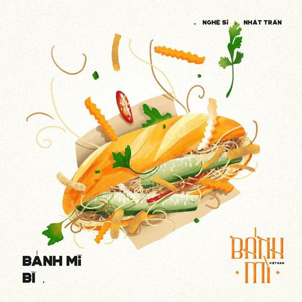 Bộ tranh tôn vinh các thể loại bánh mì Việt Nam đang được nhấn nút share kịch liệt, dân mạng không khỏi tự hào về đặc sản nước nhà - Ảnh 17.