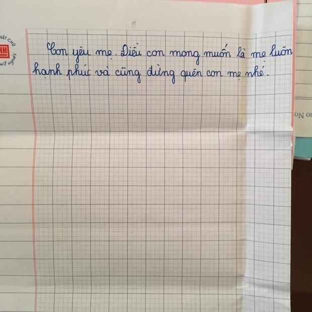 Được yêu cầu viết thông điệp gửi một người lớn, học sinh lớp 5 khiến mọi người bật khóc: Con mong mẹ hiểu, mẹ còn đứa con gái đang sống cùng bà nội - Ảnh 3.
