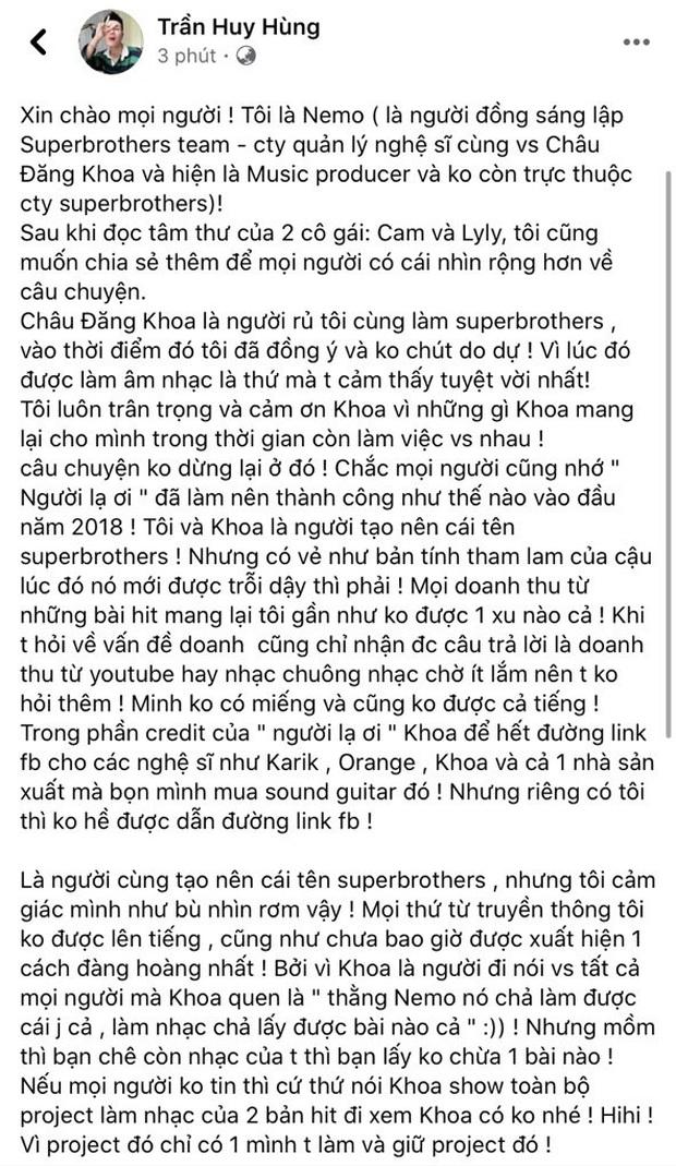 Đồng sáng lập công ty tiếp tục tố Châu Đăng Khoa: Tham lam, tự giả mạo scandal bị nhạc sĩ Hàn đòi kiện, quan niệm càng ồn ào càng hot! - Ảnh 1.