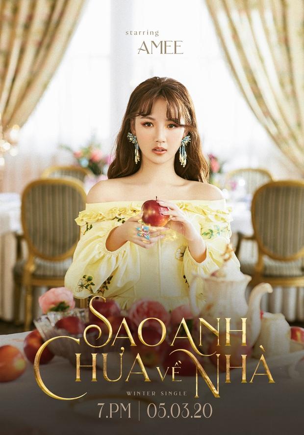 AMEE cầm táo tưởng hoá mỗi Bạch Tuyết nhưng lại là công chúa cổ tích đủ-thể-loại, kết hợp Hậu Hoàng sắp công phá Vpop bằng liên hoàn sản phẩm? - Ảnh 1.