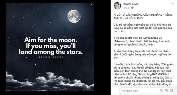 Hanas Lexis - thánh gắt giới Youtube đăng tâm thư 2000 chữ đập phát ngôn của Giang Ơi vì nói tiếng Anh chỉ là công cụ? - Ảnh 4.