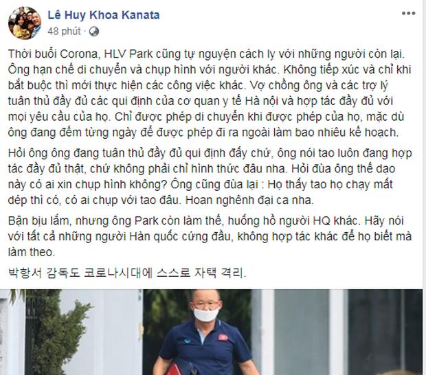 HLV Park Hang-seo tự cách ly 14 ngày, không ra khỏi khuôn viên VFF - Ảnh 2.