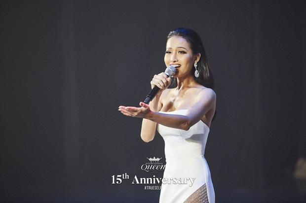 Hoài Sa diện áo đỏ rực, bất ngờ nhất là chi tiết áo giáp mang hình ảnh nữ quyền trên sân khấu Hoa hậu chuyển giới quốc tế 2020 - Ảnh 1.