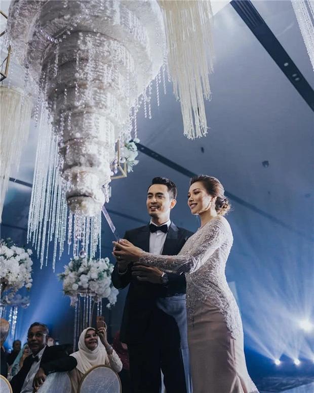 Hôn lễ thế kỷ xa hoa bậc nhất của cặp đôi vàng showbiz Malaysia: Cô dâu diện váy 58 tỷ đồng, bánh cưới 8 tầng úp ngược - Ảnh 5.