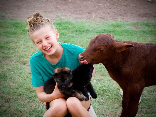 Chuyện chú bò mồ côi được gia đình nhà chó nhận nuôi từ bé, sống riết quen rồi cũng tự nghĩ mình là chó luôn - Ảnh 3.